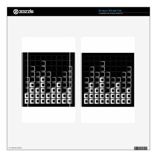 Abstract composition with squares kindle fire skins