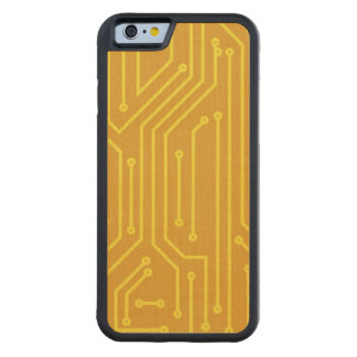 Abstract computer equipment carved maple iPhone 6 bumper case