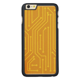 Abstract computer equipment carved maple iPhone 6 plus case