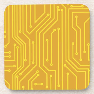 Abstract computer equipment drink coaster