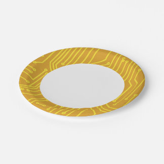 Abstract computer equipment 7 inch paper plate