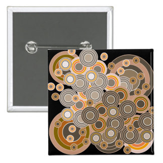 Abstract Concentric Circles Pattern Button
