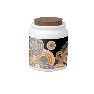 Abstract Concentric Circles Pattern Candy Jar