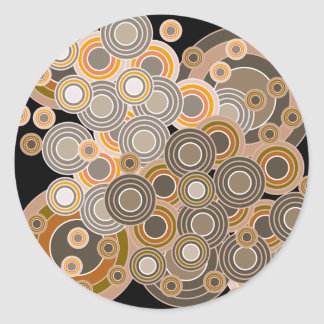 Abstract Concentric Circles Pattern Classic Round Sticker