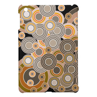 Abstract Concentric Circles Pattern iPad Mini Cover