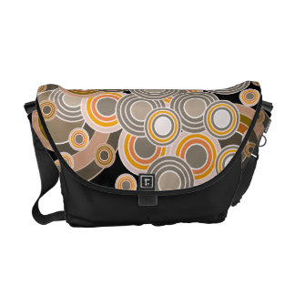 Abstract Concentric Circles Pattern Messenger Bag