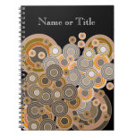 Abstract Concentric Circles Pattern Spiral Note Book