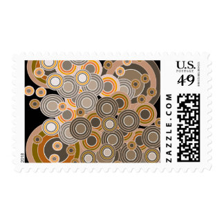 Abstract Concentric Circles Pattern Postage