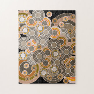 Abstract Concentric Circles Pattern Jigsaw Puzzles