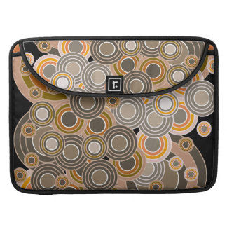 Abstract Concentric Circles Pattern Sleeve For MacBooks