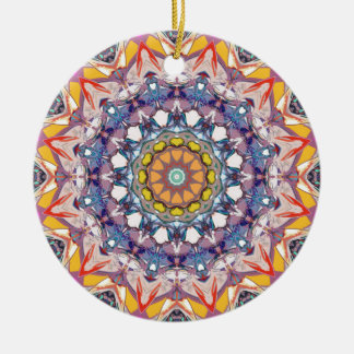 Abstract Concentric Mandala Ceramic Ornament