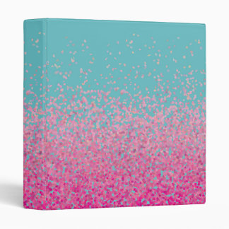 Abstract Confetti Girly Pink and Blue Binder