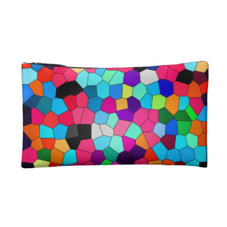 Abstract Confetti Stained Glass Cosmetic Bag