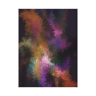 Abstract Contemporary Art Colorful Swirls Canvas Print