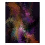 Abstract Contemporary Art Colorful Swirls Poster