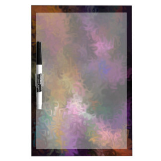 Abstract Contemporary Art Multi Colored Swirls Dry-Erase Whiteboard