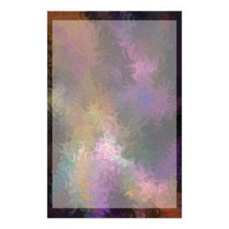 Abstract Contemporary Art Multi Colored Swirls Custom Stationery