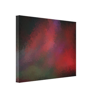 Abstract Contemporary Art Red Purple Swirls Gallery Wrapped Canvas