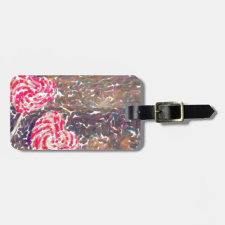 abstract contemporary colors No 51 Love Luggage Tag