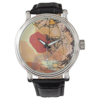 Abstract Contemporary Geometric Design Watch
