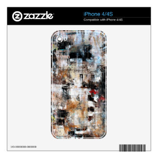 ABSTRACT CONTEMPORARY MODERN ART 3 DECAL FOR iPhone 4