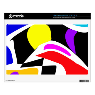 Abstract Contrast Skins For Netbooks