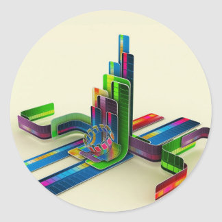 Abstract Cool Access The Colours Classic Round Sticker