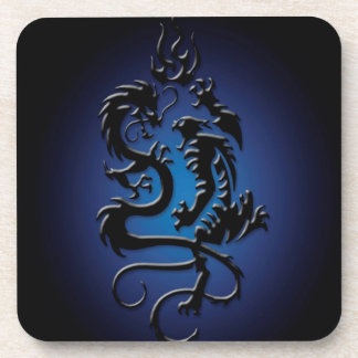Abstract Cool Beast Fight Beverage Coasters