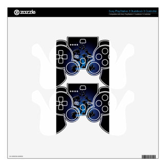 Abstract Cool Beast Fight PS3 Controller Decals