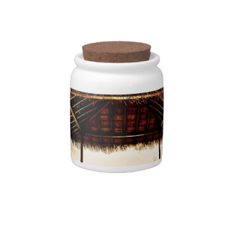 Abstract Cool Boardwalk Exposure Candy Jar