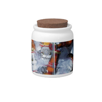 Abstract Cool Bud Party Candy Jar