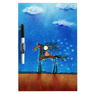 Abstract Cool Cartoon Rider Dry-Erase Whiteboard