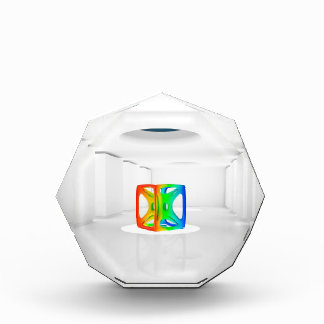Abstract Cool Colour Cube Acrylic Award