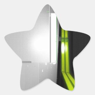 Abstract Cool Computer Data Star Sticker