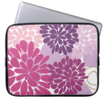 Abstract Cool Cute Girly Retro Floral Laptop Sleeve