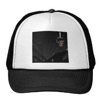 Abstract Cool Dark Painted Robot Trucker Hat