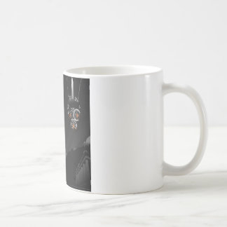 Abstract Cool Dark Painted Robot Mugs
