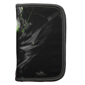 Abstract Cool Explosive Green Fire Folio Planner