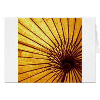 Abstract Cool Fan Umberella Card