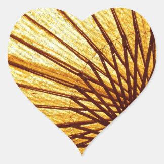 Abstract Cool Fan Umberella Heart Sticker