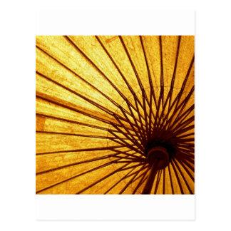 Abstract Cool Fan Umberella Postcard