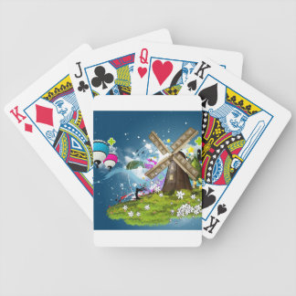 Abstract Cool Floating Windfarm Bicycle Playing Cards