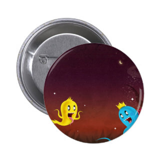 Abstract Cool Ghoulie Ghouls Pins