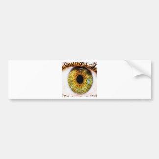 Abstract Cool Green Eye Bumper Sticker