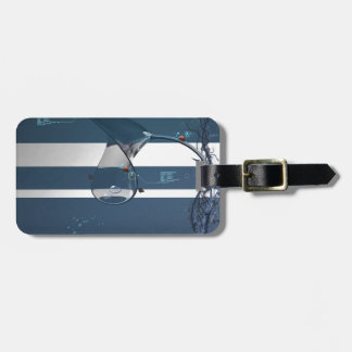 Abstract Cool Lady Bird Water Lamp Bag Tag
