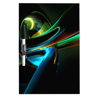 Abstract Cool Light Show Dry-Erase Whiteboard