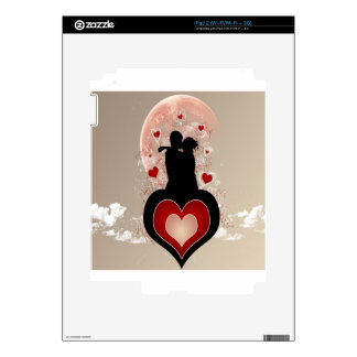 Abstract Cool Lovers Heart Skins For The iPad 2