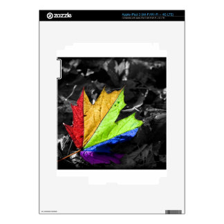 Abstract Cool Maple Leaf Colours Skin For iPad 3
