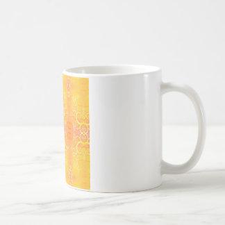 Abstract Cool Mellow Yellow Mugs
