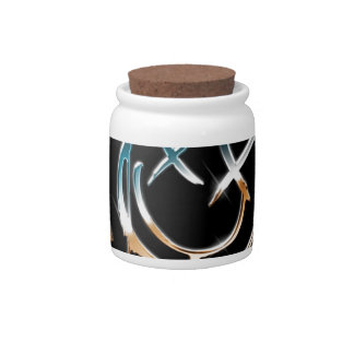 Abstract Cool Mercury Smiley Candy Jar